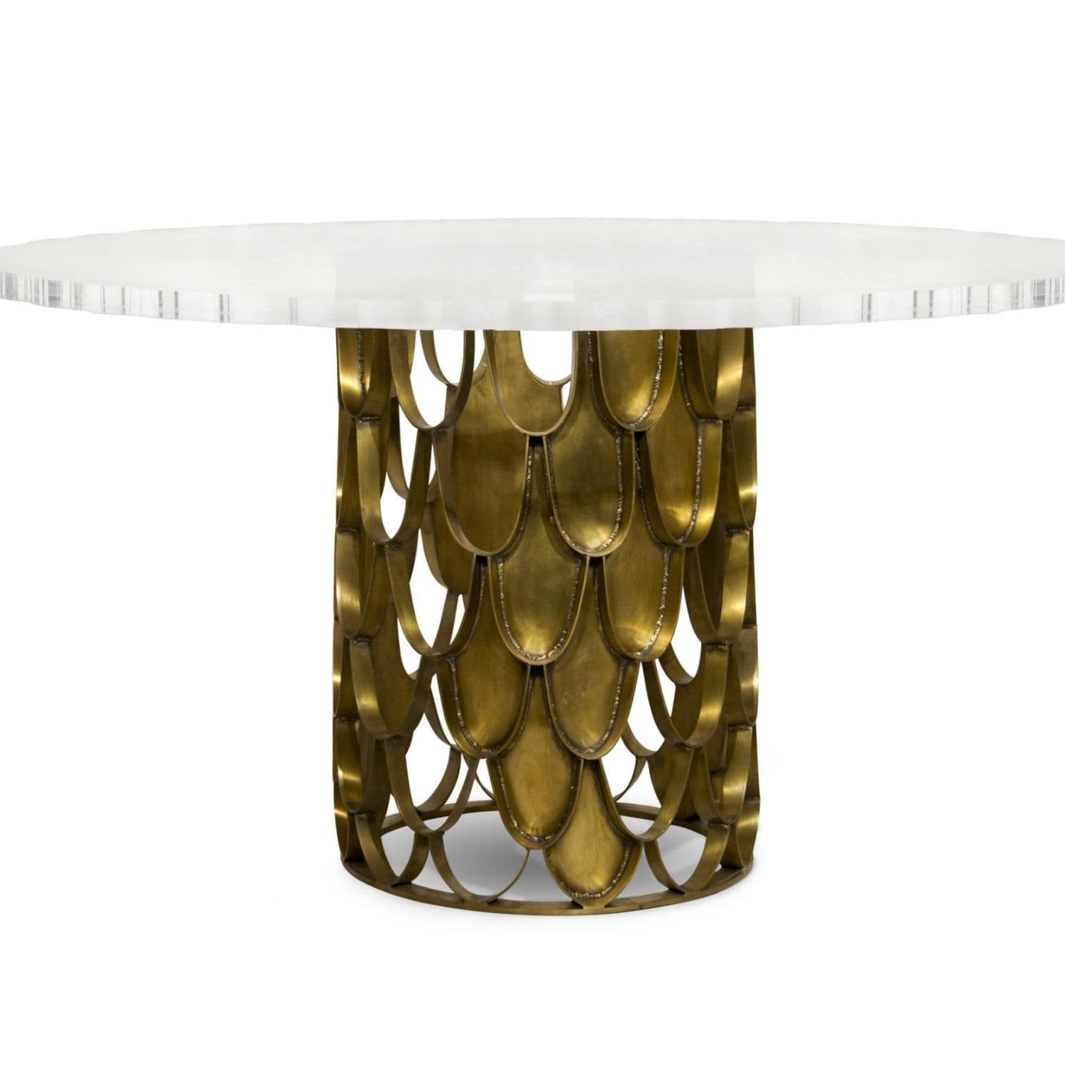 Current Contemporary Dining Table / Brass / Acrylic / Round – Koi – Brabbu For Acrylic Round Dining Tables (View 22 of 25)
