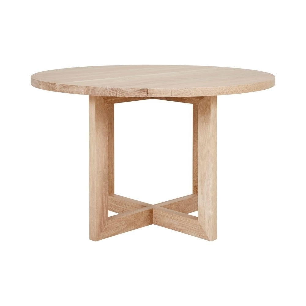 Current Designer Round Solid Oak Timber Dining Table – Contemporary Furniture In Lassen Round Dining Tables (View 2 of 25)