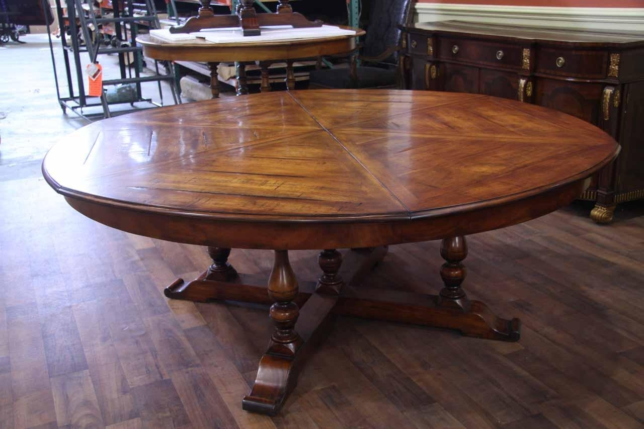 Current Dining Tables: Glamorous Big Round Dining Table Large Circle Dining With Regard To Huge Round Dining Tables (View 5 of 25)