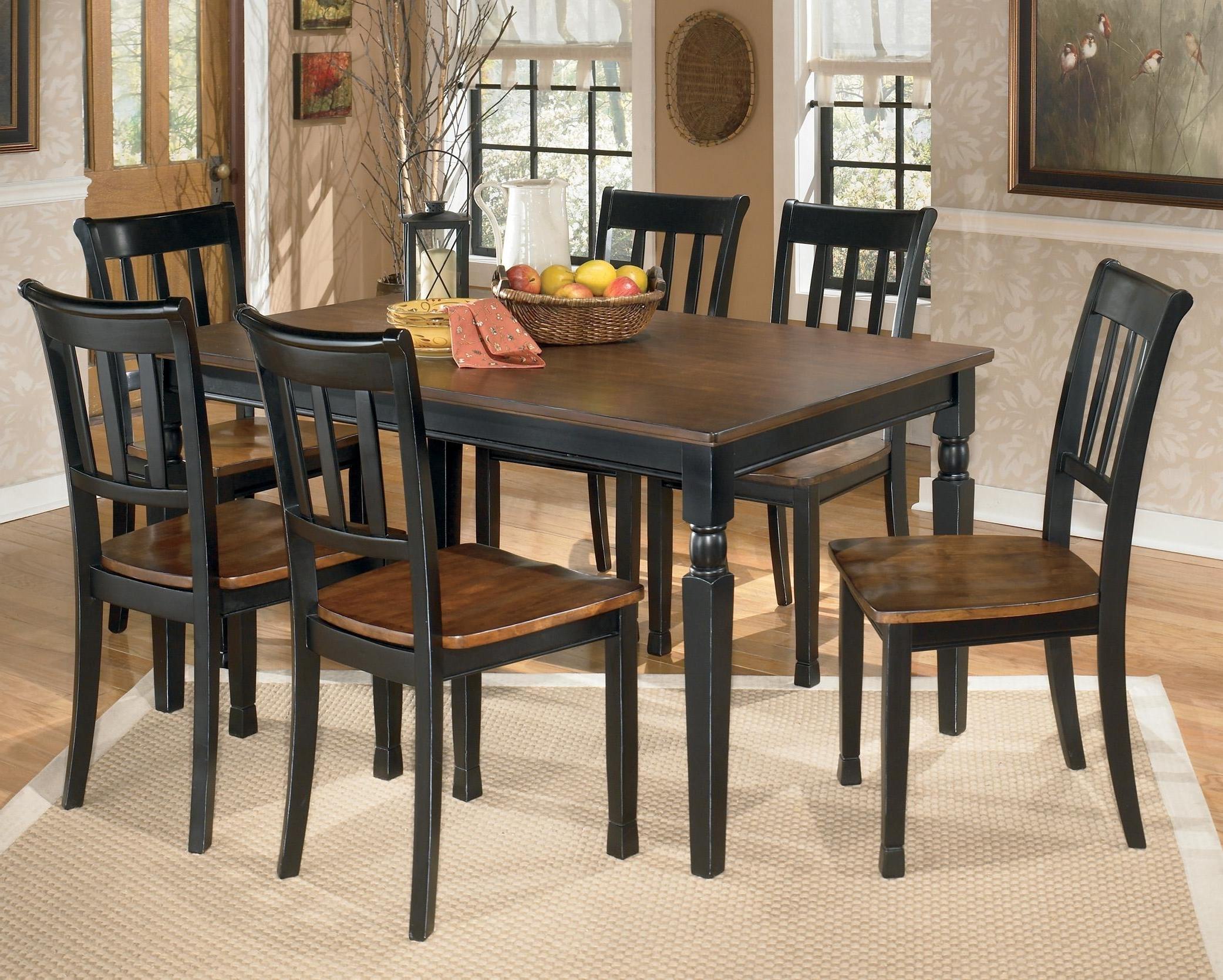 Current Dining Tables Sets Pertaining To Signature Designashley Owingsville 7 Piece Rectangular Dining (View 23 of 25)