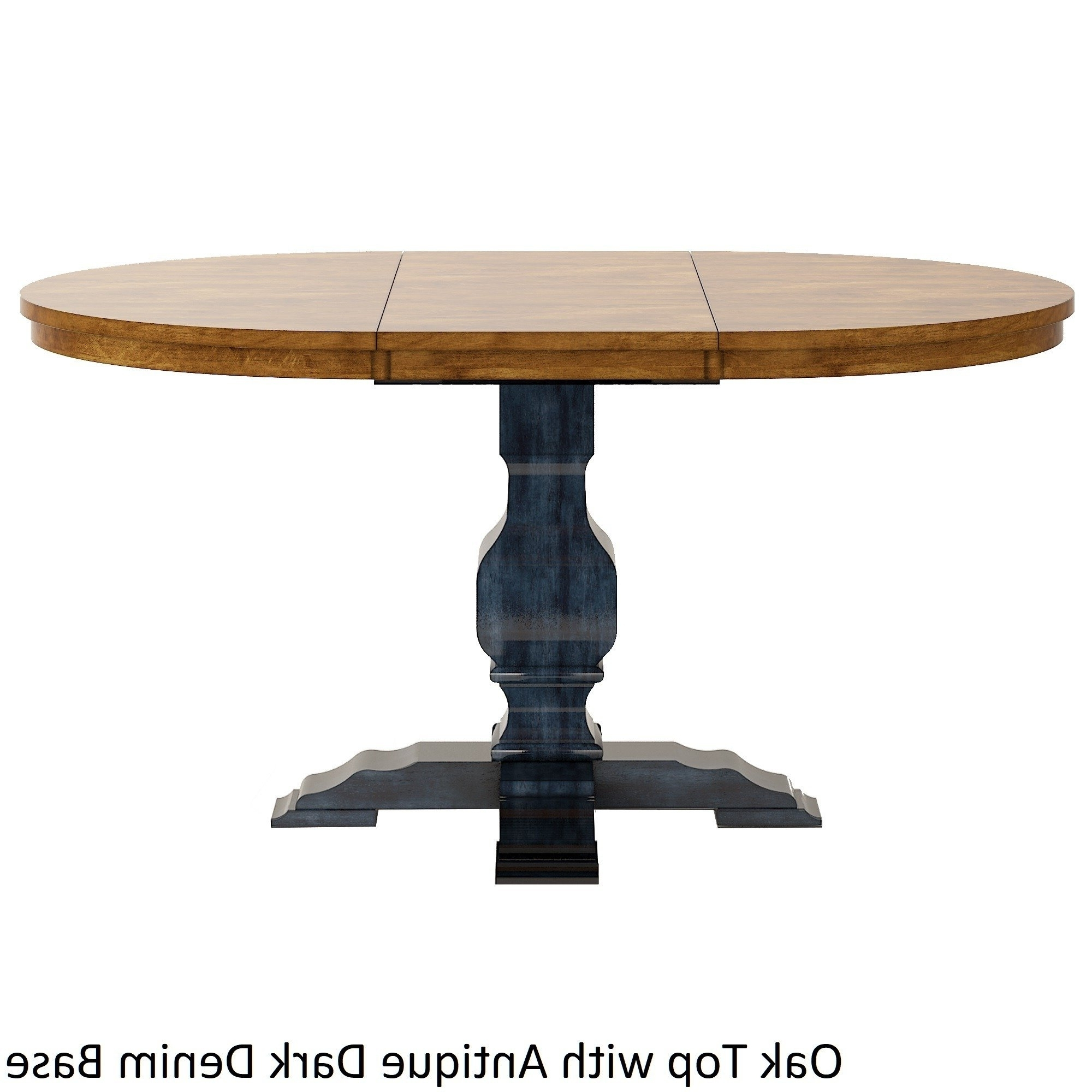 Current Extended Round Dining Tables In Shop Eleanor Two Tone Oval Solid Wood Top Extending Dining Table (View 4 of 25)