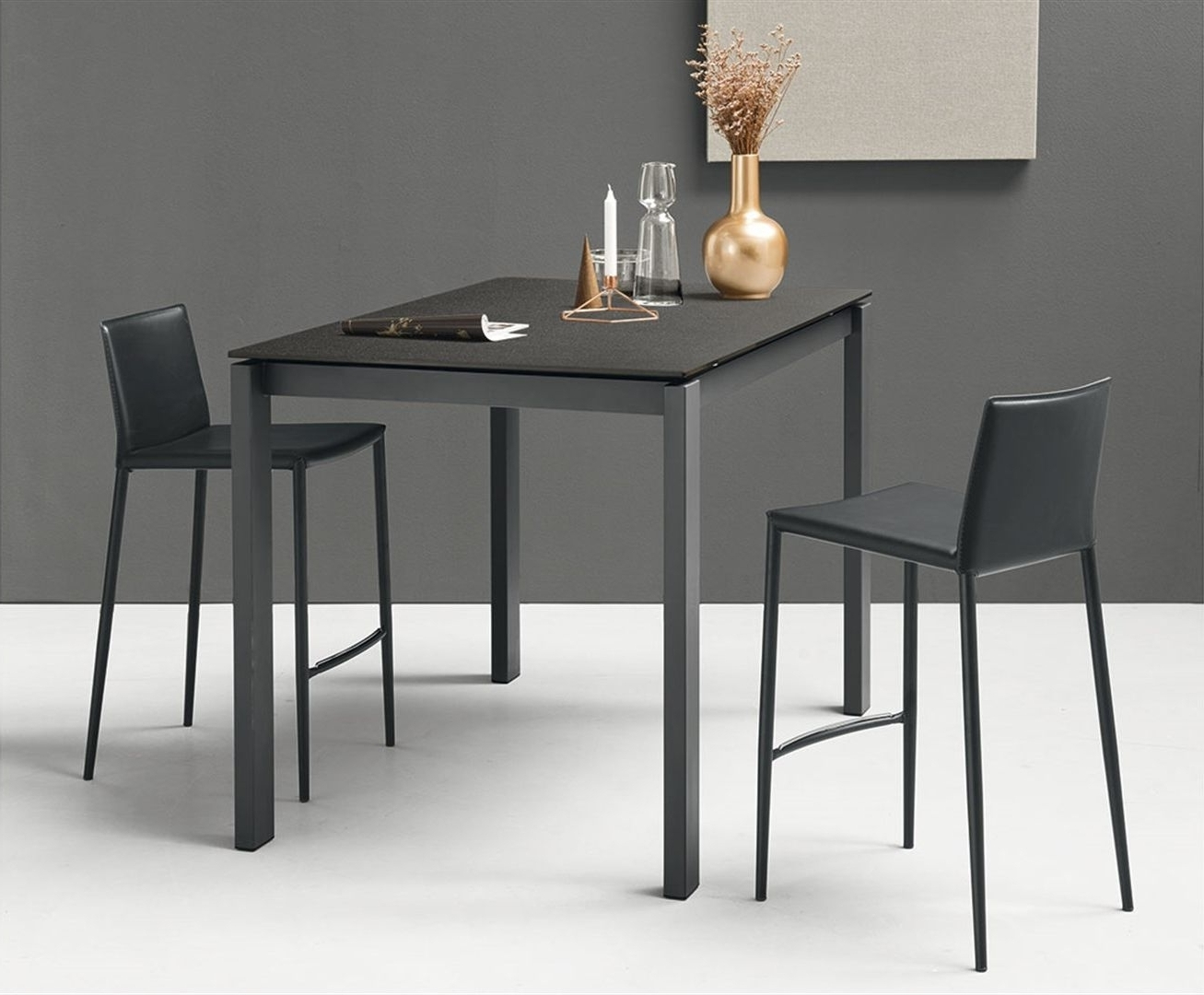 Current Extending Rectangular Dining Tables Pertaining To Buy Connubia Baron Counter Rectangular Extending Dining Table (Gallery 22 of 25)
