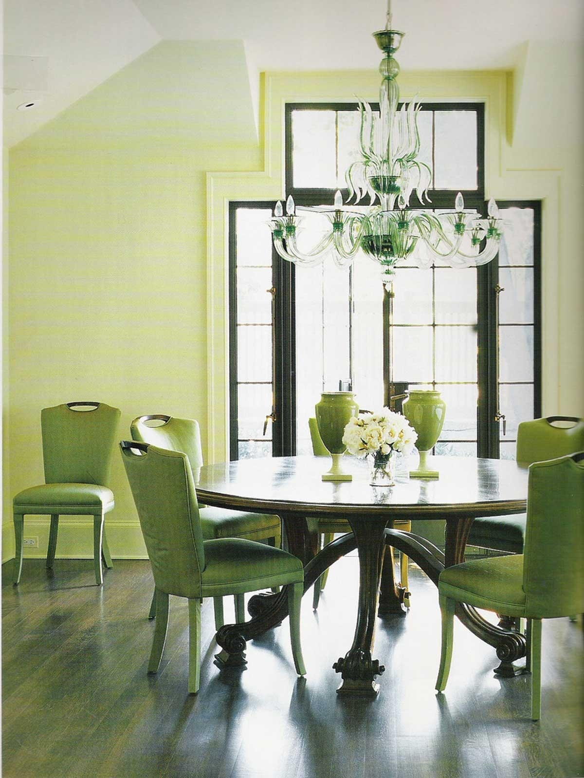 Current Green Dining Room (View 7 of 25)