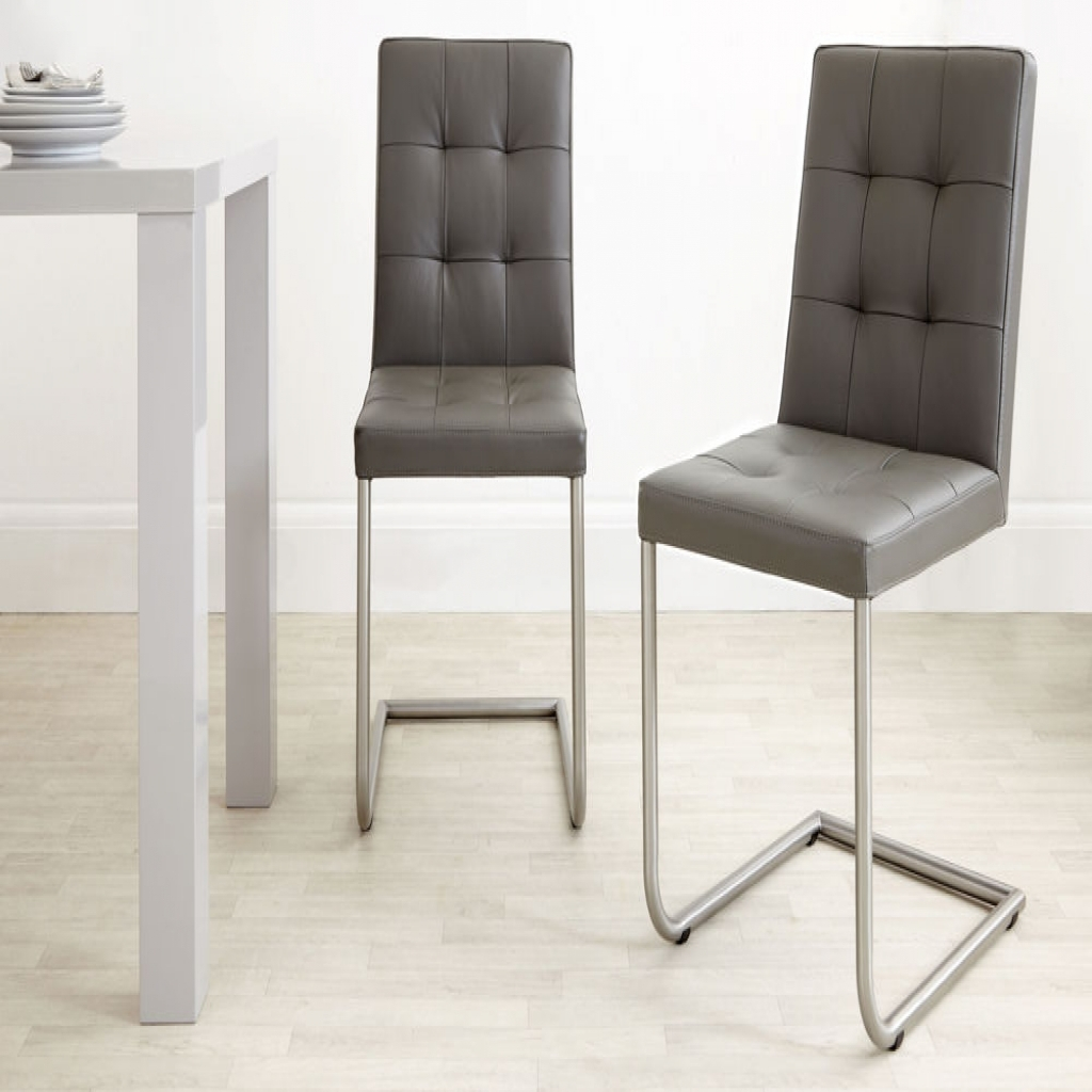 Current Grey Leather Dining Chairs : Chair Within Real Leather Dining Chairs (Gallery 21 of 25)