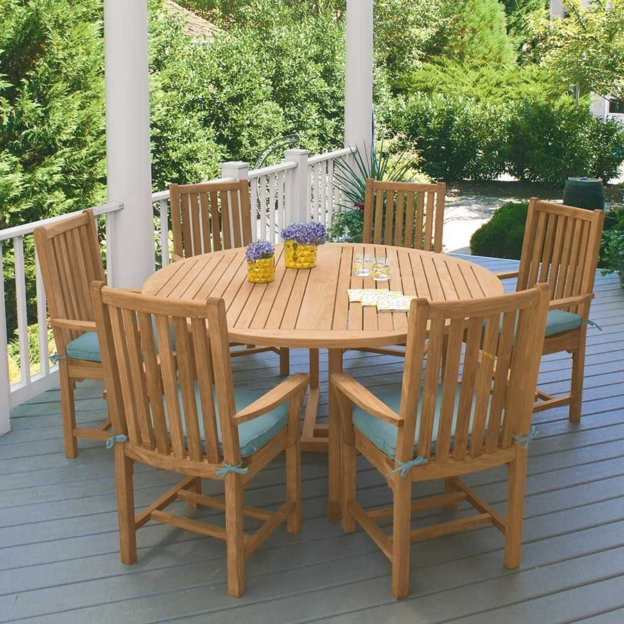 Current Helms Round Dining Tables Throughout Teak Dining Tables – Chelmsford 59 In (View 8 of 25)