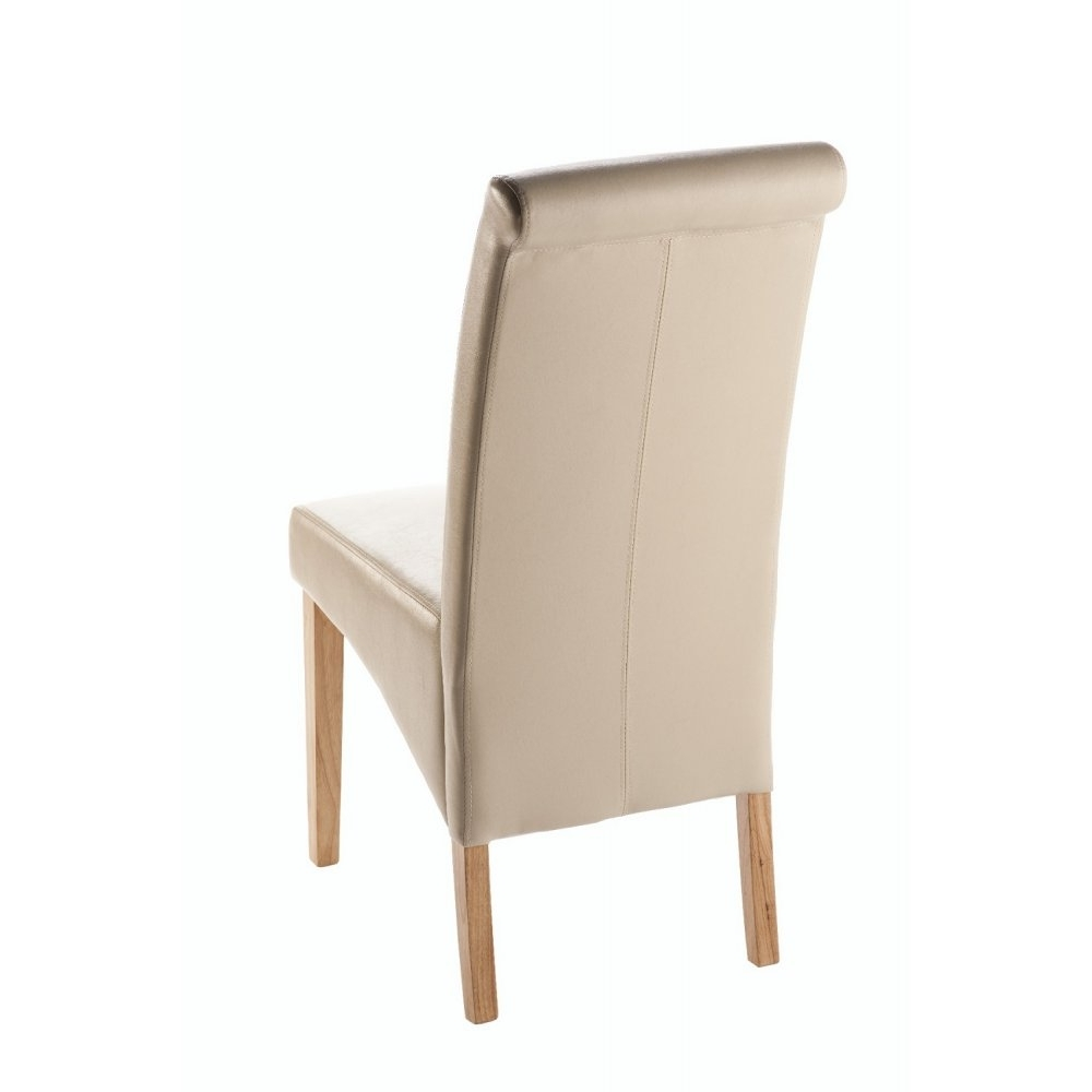 Current Henley Faux Leather Dining Chair – Ivory Within Ivory Leather Dining Chairs (View 9 of 25)