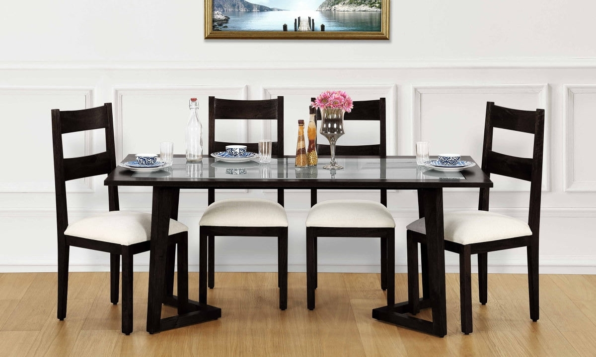 Current Imágenes De Glass Top Dining Table Buy India Regarding Glass 6 Seater Dining Tables (View 18 of 25)