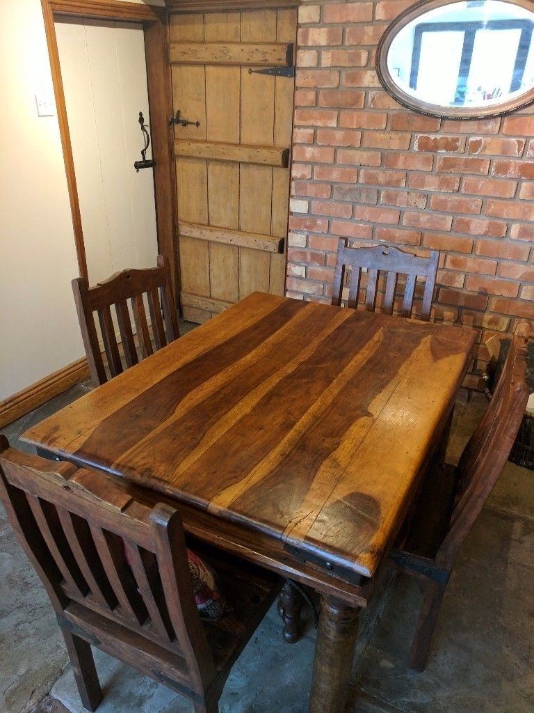 Current Indian Style Dining Table And 4 Chairs (View 5 of 25)