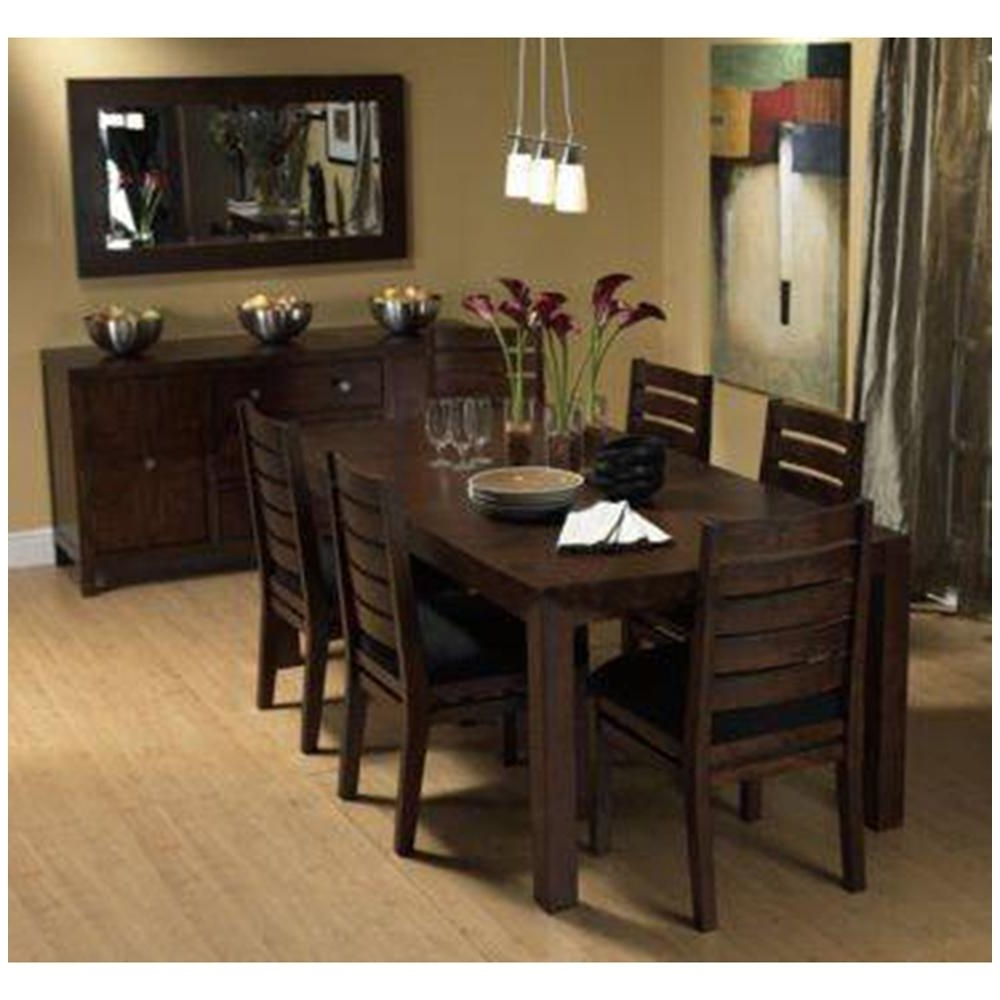 Current Induscraft 7 Pc Contemporary Sheesham Wood Dining Table Set (View 4 of 25)