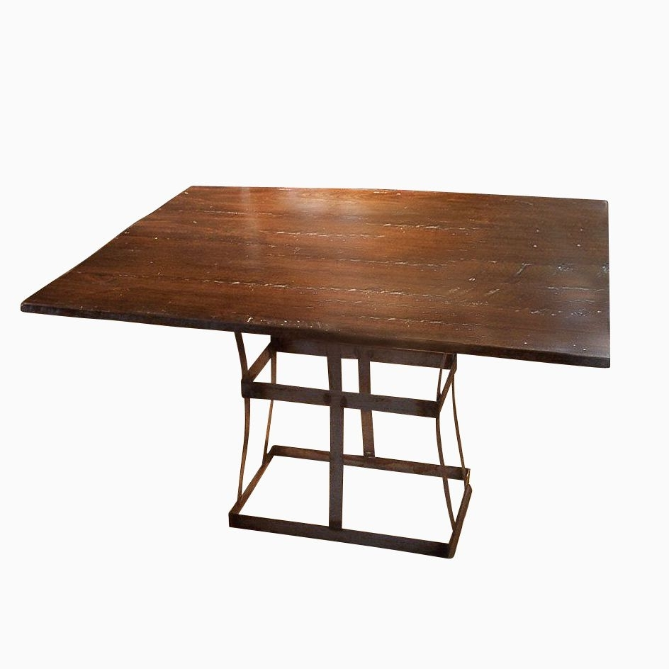Current Iron And Wood Dining Tables For Buy A Handmade Reclaimed Wood Dining Table With Contemporary Metal (View 3 of 25)