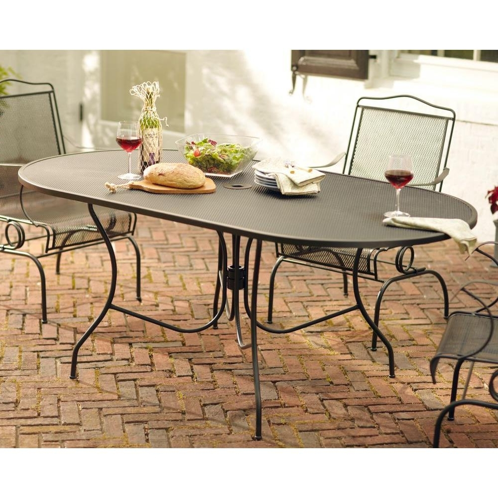Current Jaxon 6 Piece Rectangle Dining Sets With Bench & Uph Chairs In Arlington House Jackson Oval Patio Dining Table 3872200  (View 19 of 25)