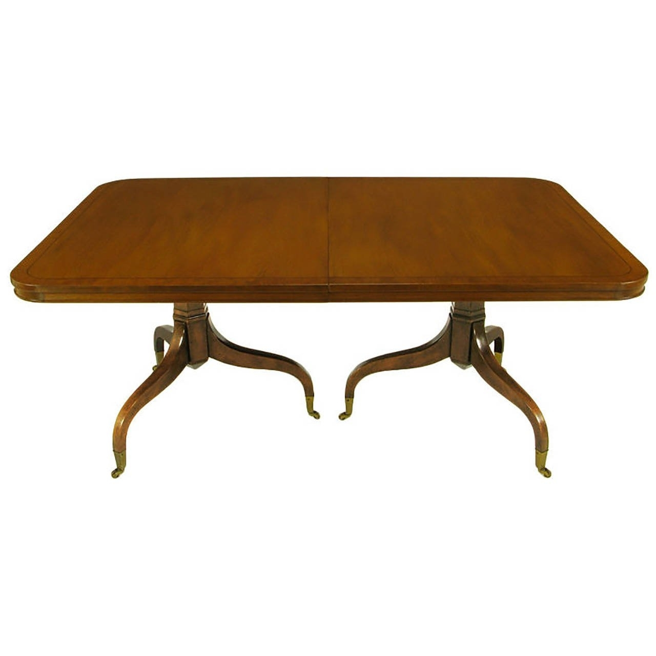Current Kittinger Mahogany Dining Table With Unusual Double Pedestal Base For Magnolia Home Double Pedestal Dining Tables (View 3 of 25)