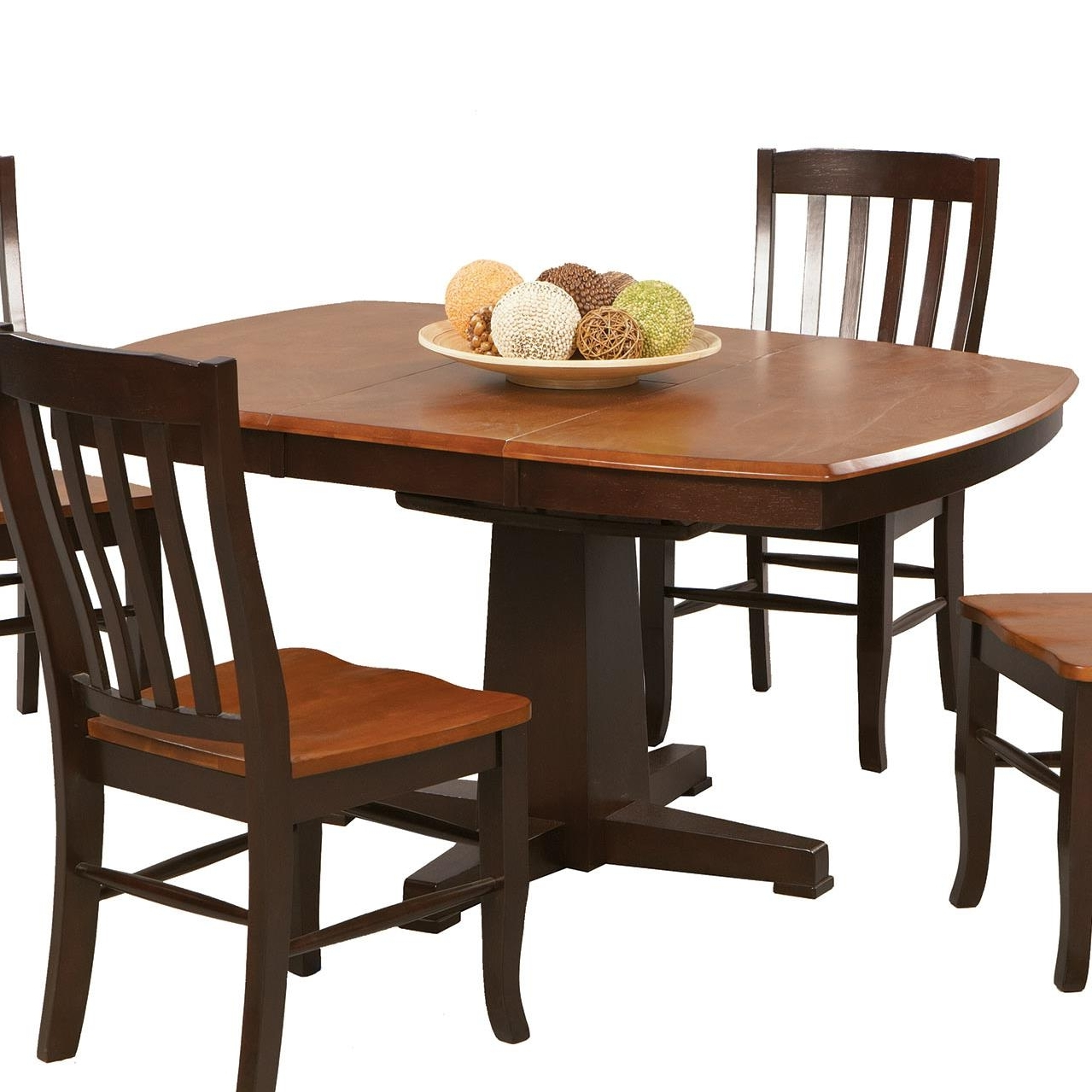 Current Lindy Espresso Rectangle Dining Tables Inside Winners Only Santa Fe – Chestnut/espresso Single Pedestal Dining (View 3 of 25)