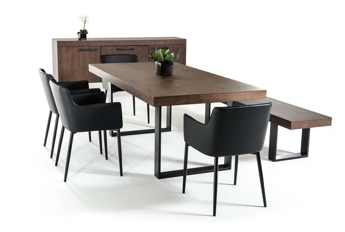 Current Lola Modern Wenge Walnut Dining Table Within Walnut Dining Tables And Chairs (View 3 of 25)