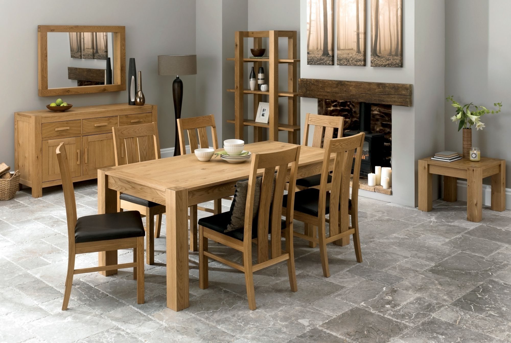 Current Lyon 6-8 Double End Extending Table throughout Lyon Dining Tables
