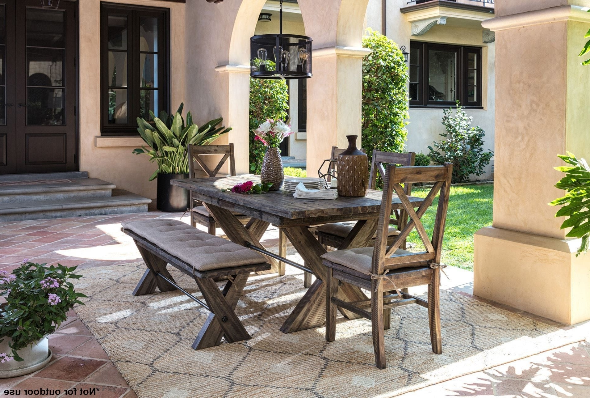Current Mallard 7 Piece Extension Dining Sets With Regard To Rustic Extension Dining Table & Chairs (View 16 of 25)
