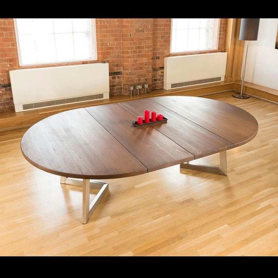 Current Massive 180 280Cm Extending Luxury Round / Oval Dining Table Oak Throughout Round Dining Tables Extends To Oval (View 4 of 25)