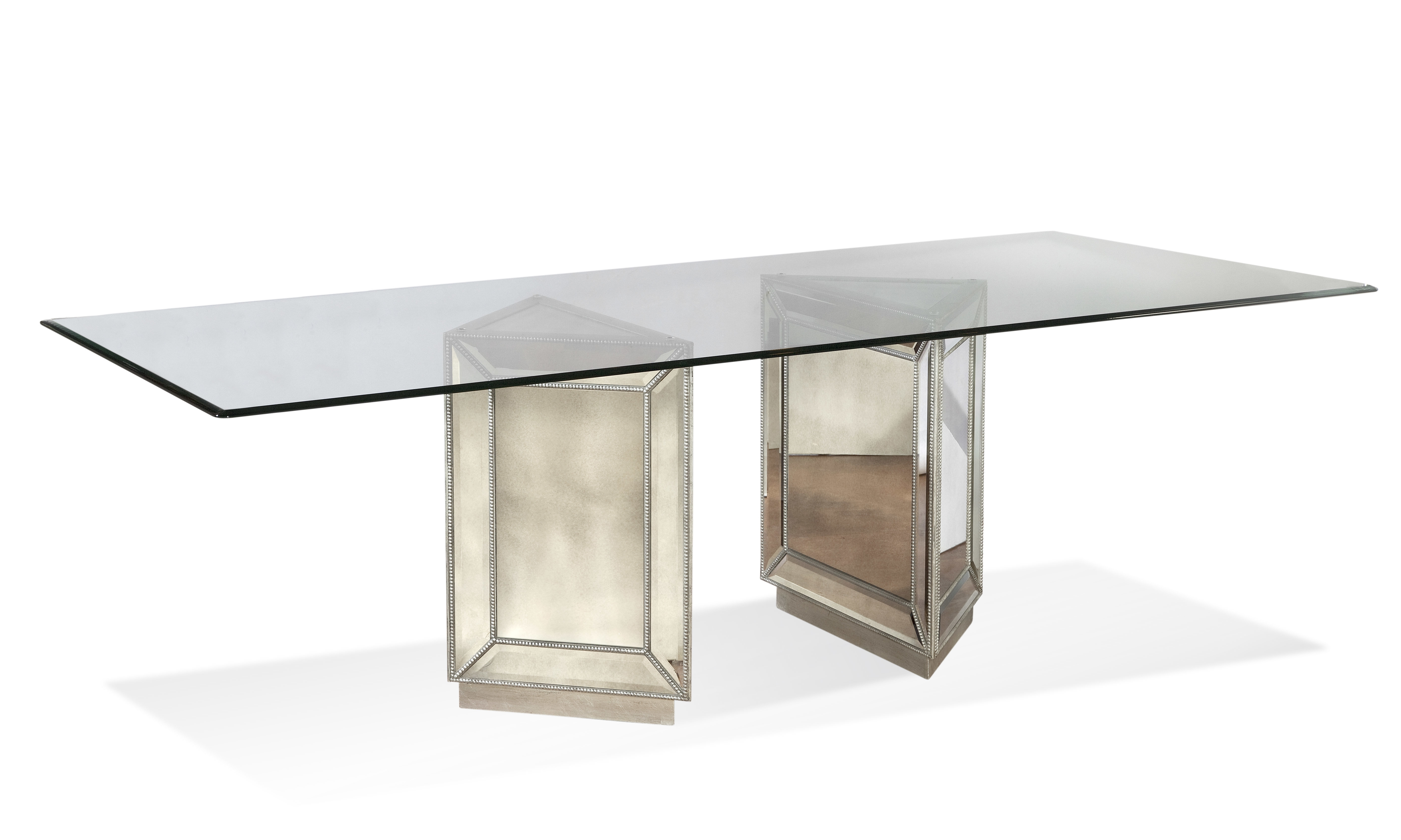 Current Mirrored Dining Tables Throughout Bassett Mirror Hattie Mirrored Dining Table & Reviews (View 7 of 25)
