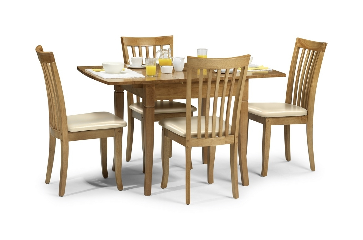 Current Newberry 130Cm Maple Extending Dining Table And Chairs Inside Extending Dining Tables And 4 Chairs (View 19 of 25)