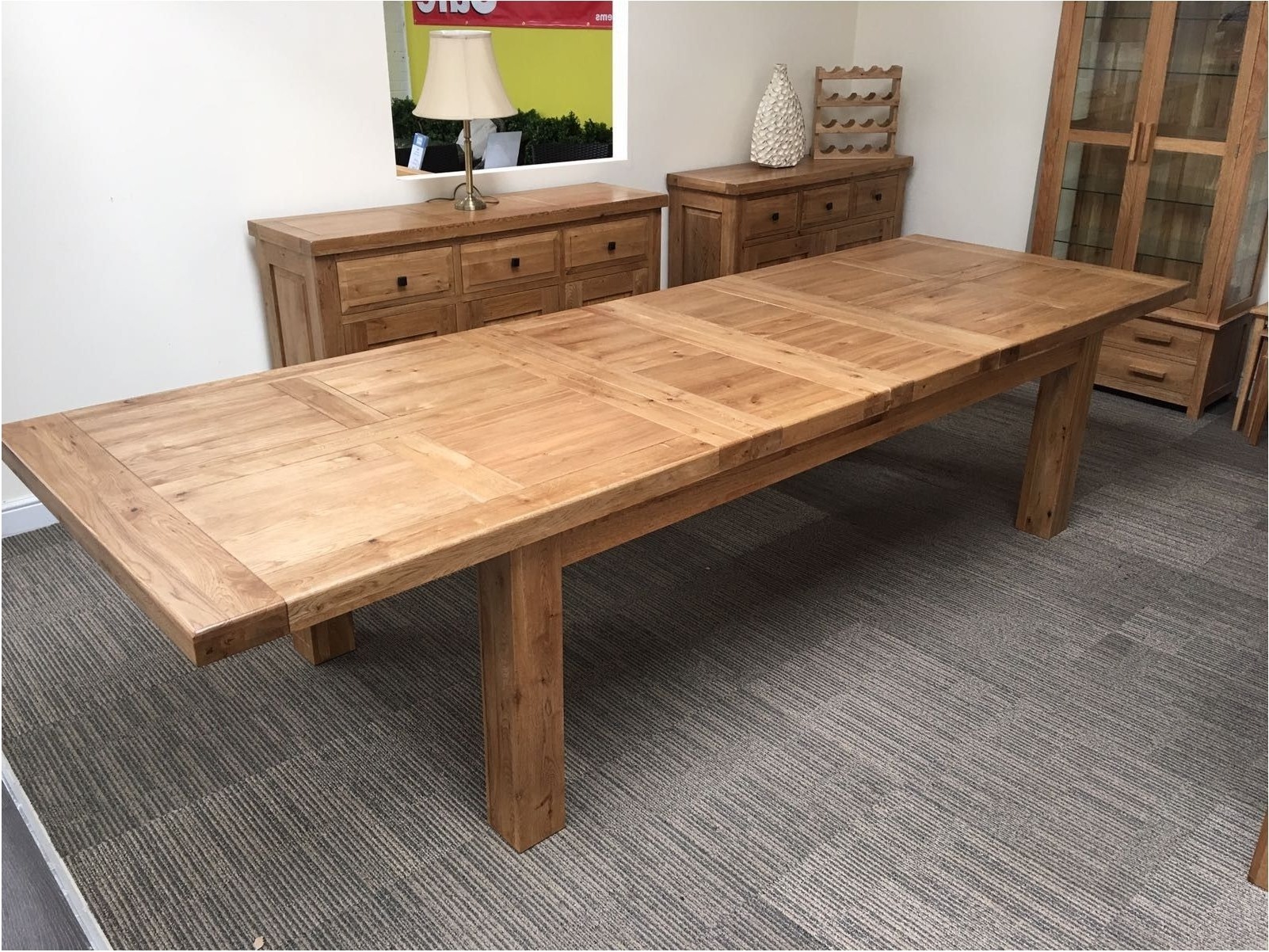 Current Oak Extending Dining Sets For Astounding Oxford Solid Oak Extending Dining Table Oak Furniture (View 9 of 25)