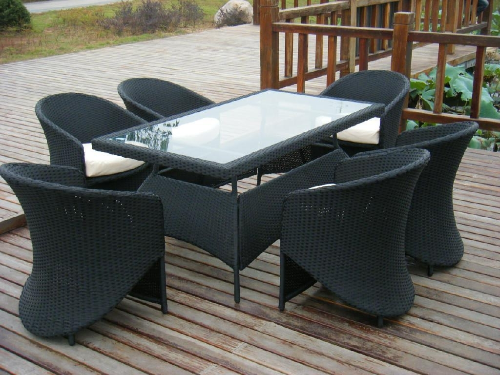 Current Rattan Dining Tables And Chairs In New Rattan Garden Furniture Outdoor Table And Chair Rattan (View 5 of 25)