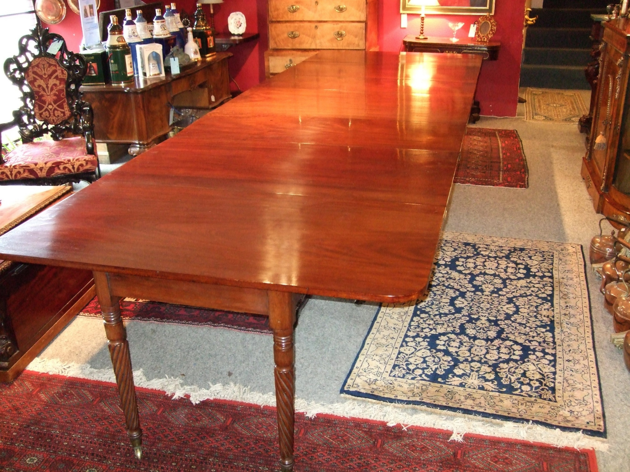 Current Restored Regency Mahogany Extending Dining Table With 4 Leaves Throughout Mahogany Extending Dining Tables (View 5 of 25)