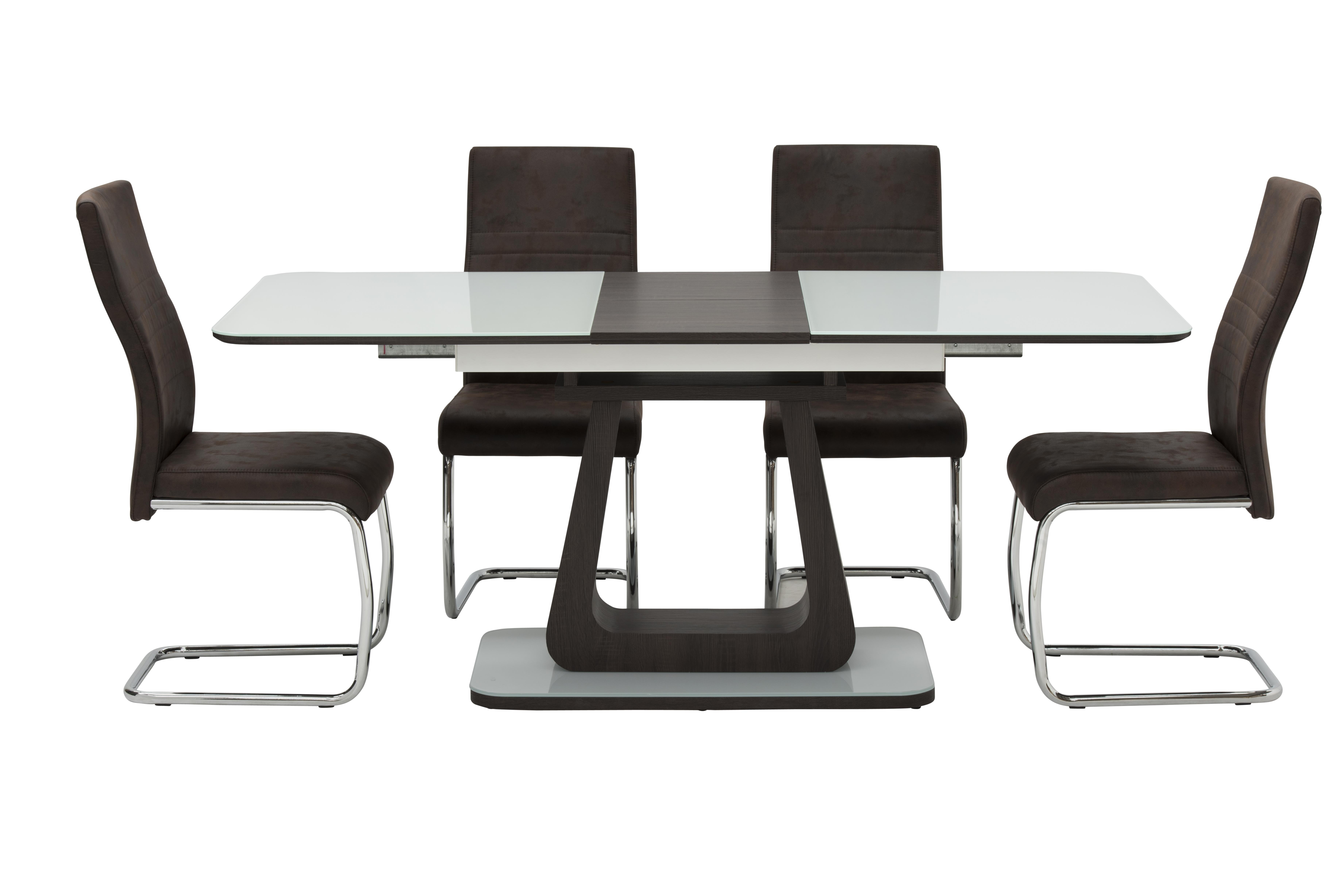 Current Rocco Extension Dining Tables With Alberta Extending Dining Set + 4 Cahirs – Dublin, Ireland Furniture (View 2 of 25)