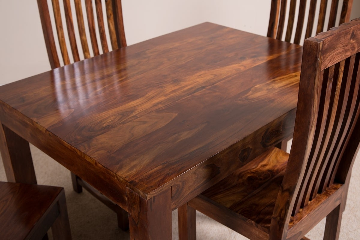 Current Sheesham Dining Tables And Chairs With Regard To Mandir Sheesham Dining Table (View 3 of 25)