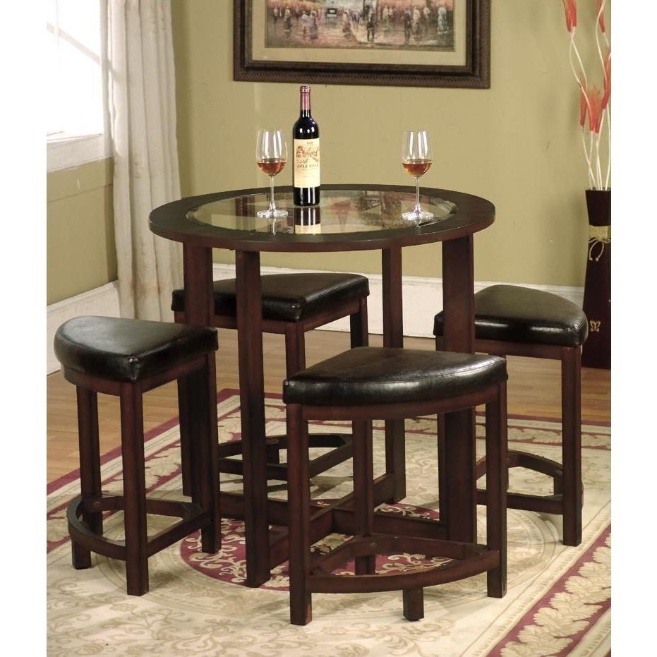 Current Shop Copper Grove Sonfjallet Solid Wood Round Dining Set In Dark Inside Lassen 5 Piece Round Dining Sets (View 2 of 25)