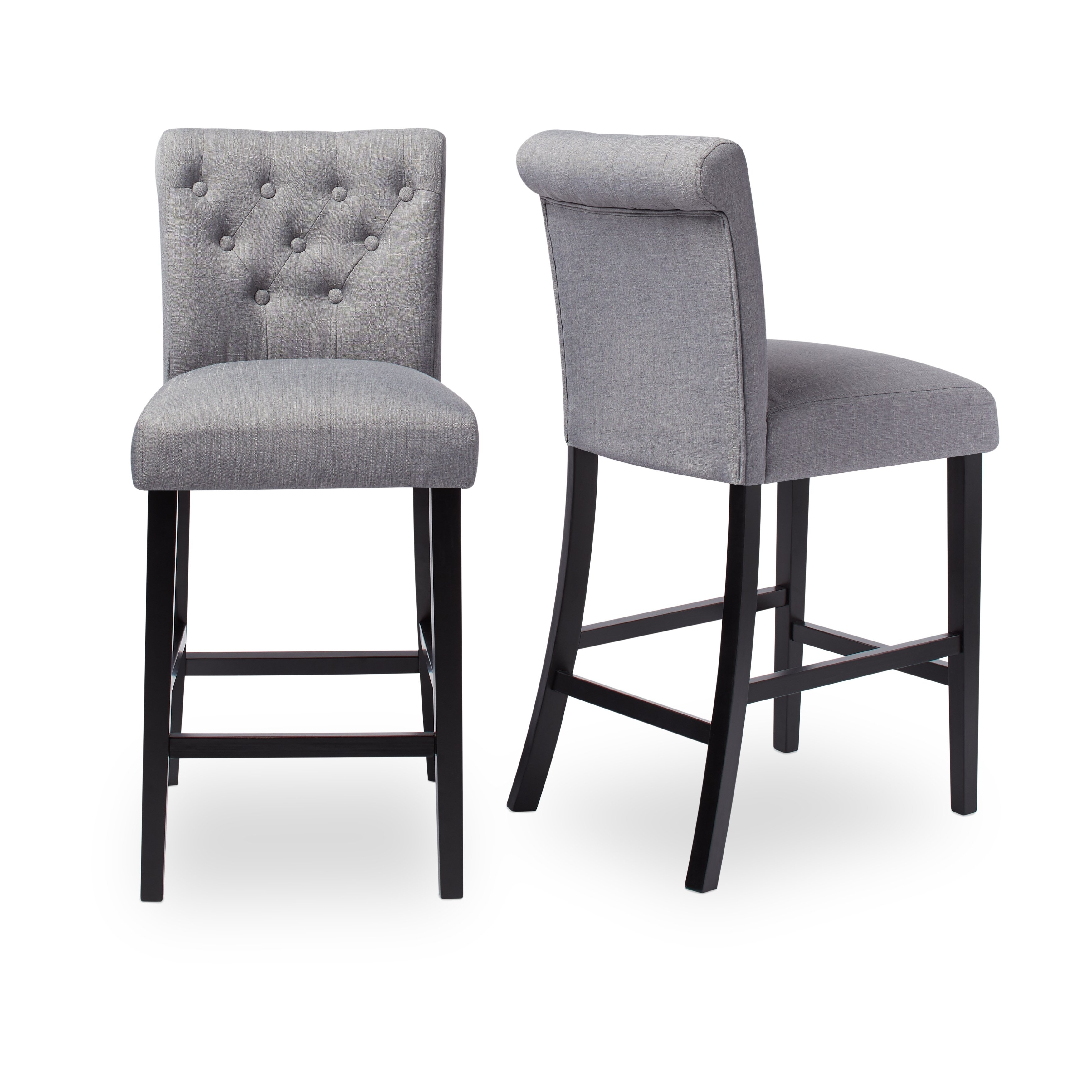 Current Shop Sopri Upholstered Counter Chairs (Set Of 2) – On Sale – Free Within Laurent 7 Piece Counter Sets With Upholstered Counterstools (Gallery 12 of 25)