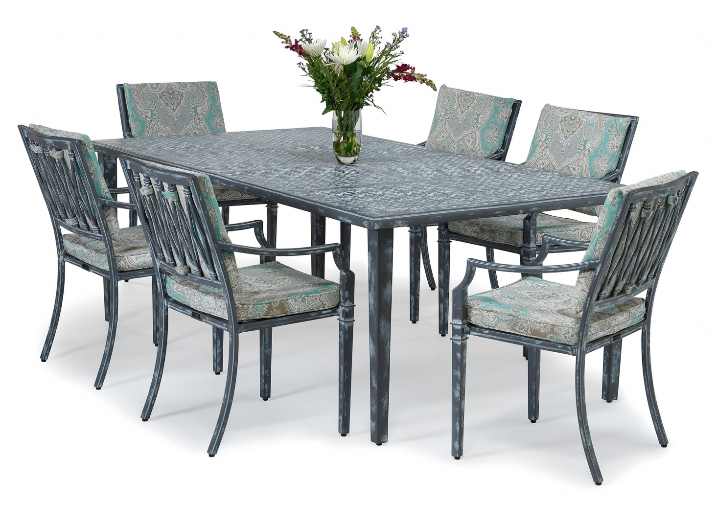 Current Sienna Metal Outdoor Dining Set, Metal Outdoor Furniture From For Outdoor Sienna Dining Tables (View 3 of 25)