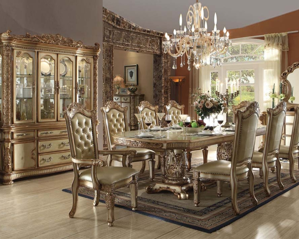 Current Traditional Dining Tables For Traditional Dining Set Vendome Goldacme Furniture Ac63000Set (View 3 of 25)