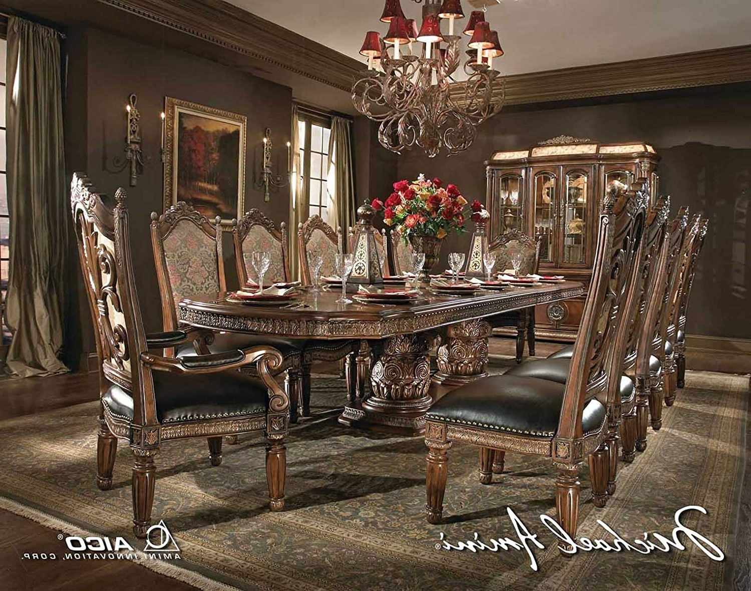 Current Valencia 5 Piece 60 Inch Round Dining Sets With Regard To Amazon – Aico Villa Valencia Casual Dining Room Set With Dining (Gallery 13 of 25)