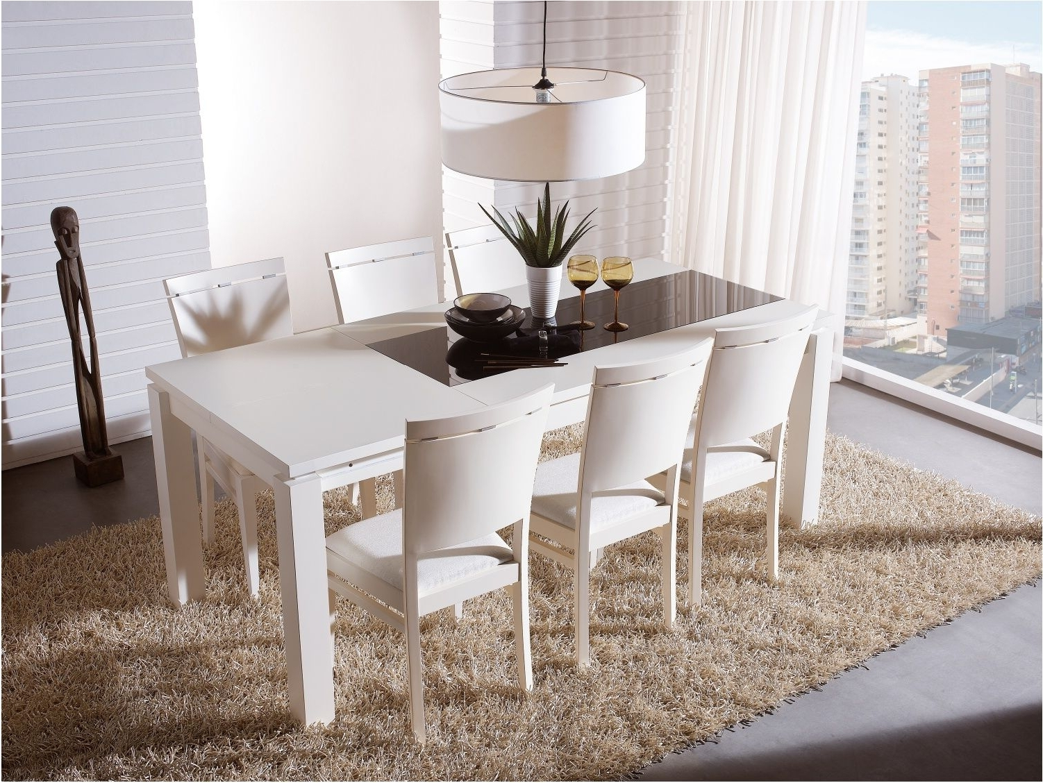 Current White Dining Tables Sets Regarding Awesome New White Extending Dining Table And Chairs Impressive (View 6 of 25)