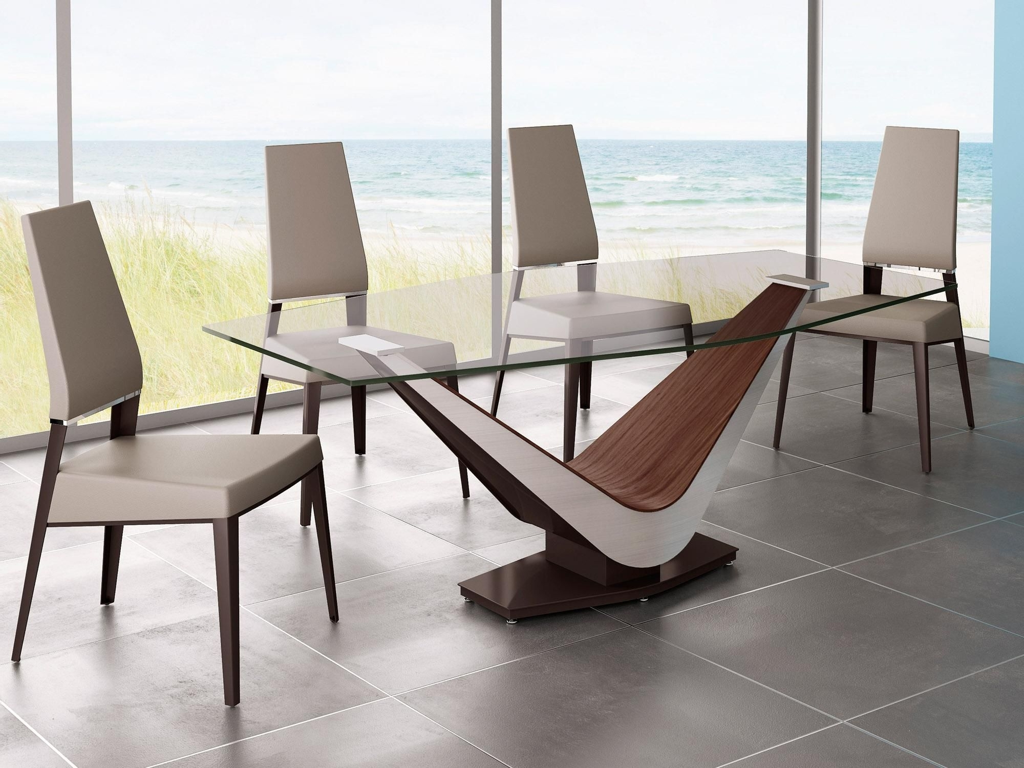 Current Wood Glass Dining Tables Intended For Bdny: Exploring Elite Modern Design Scene (View 7 of 25)