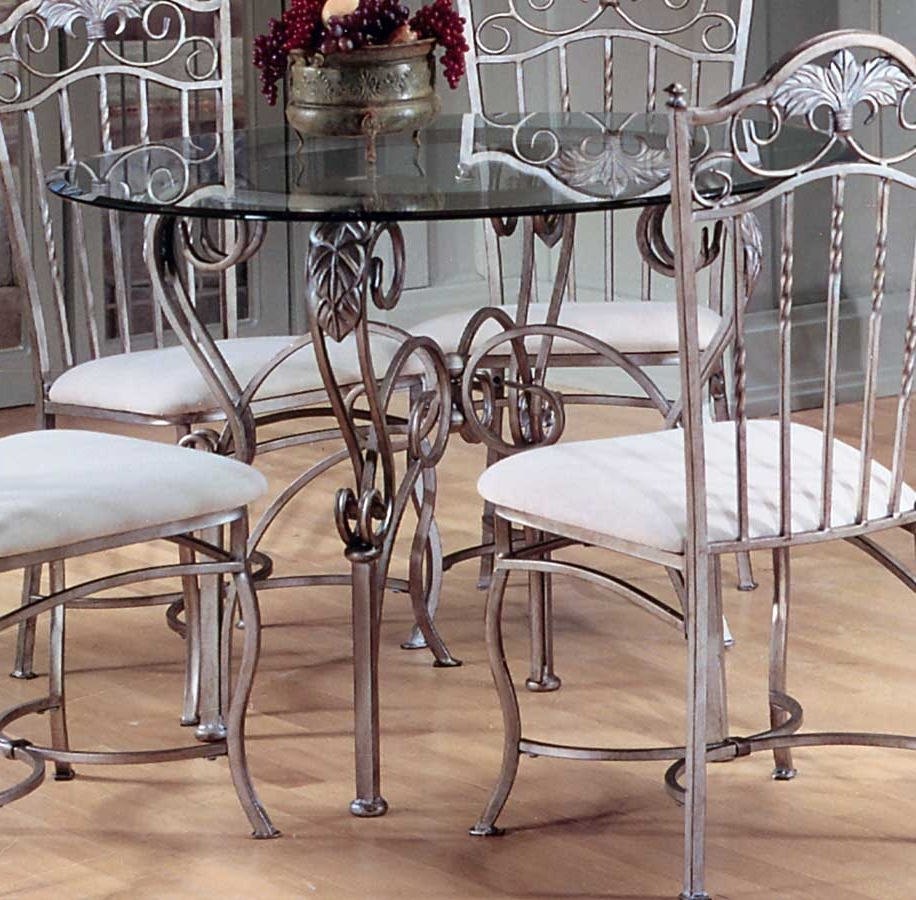 Curved Glass Dining Tables For Most Current Hillsdale Bordeaux Round Dining Table With Glass Top 40363  (View 23 of 25)
