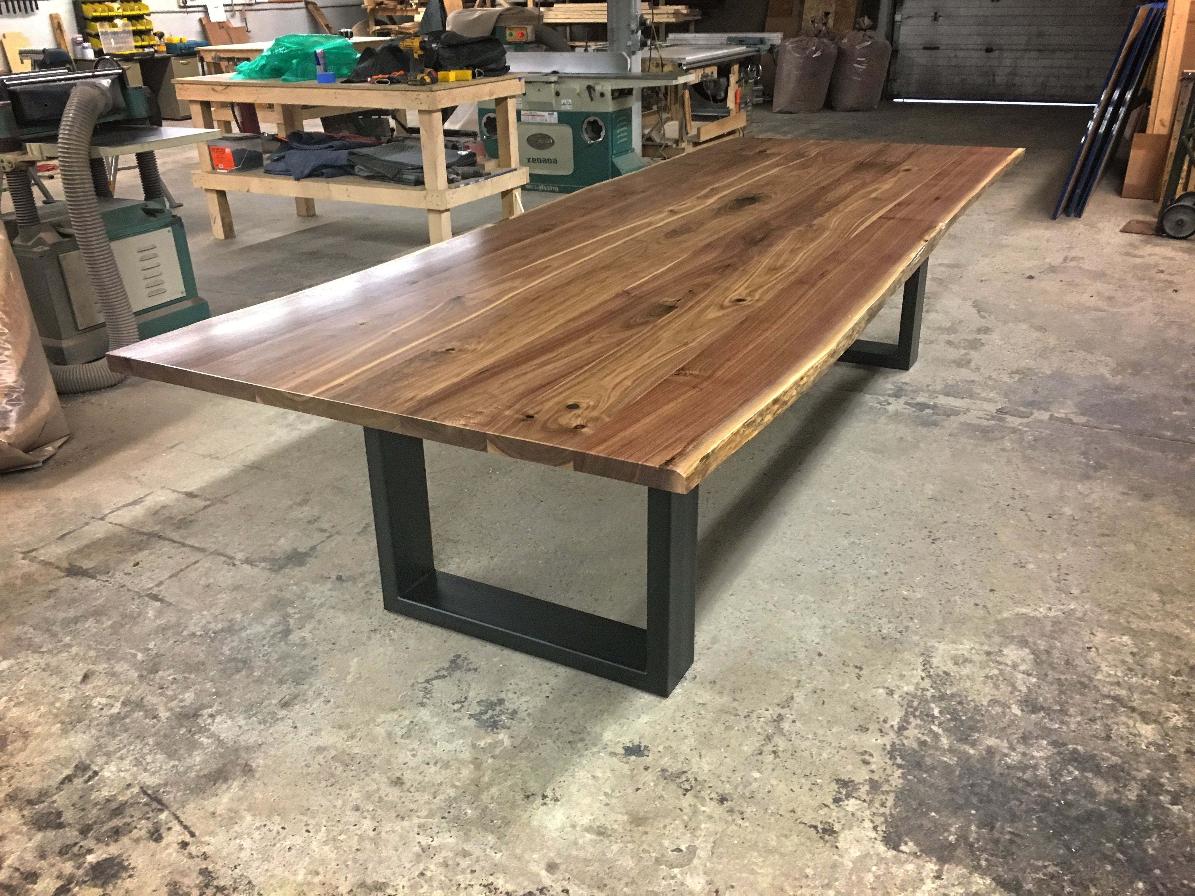 Custom The Goliath – Live Edge Walnut Dining Table Drafthiggins In Widely Used Walnut Dining Tables (View 7 of 25)