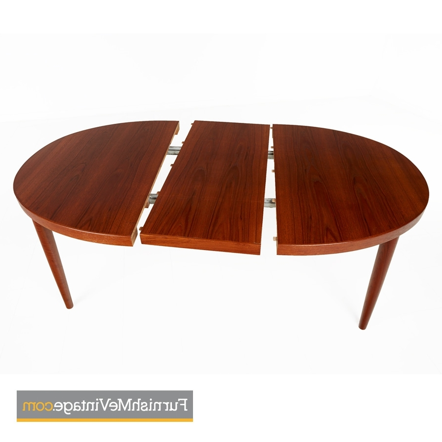 Danish Dining Tables Within Favorite Skovmand Andersen Vintage Danish Teak Oval Dining Table (View 20 of 25)