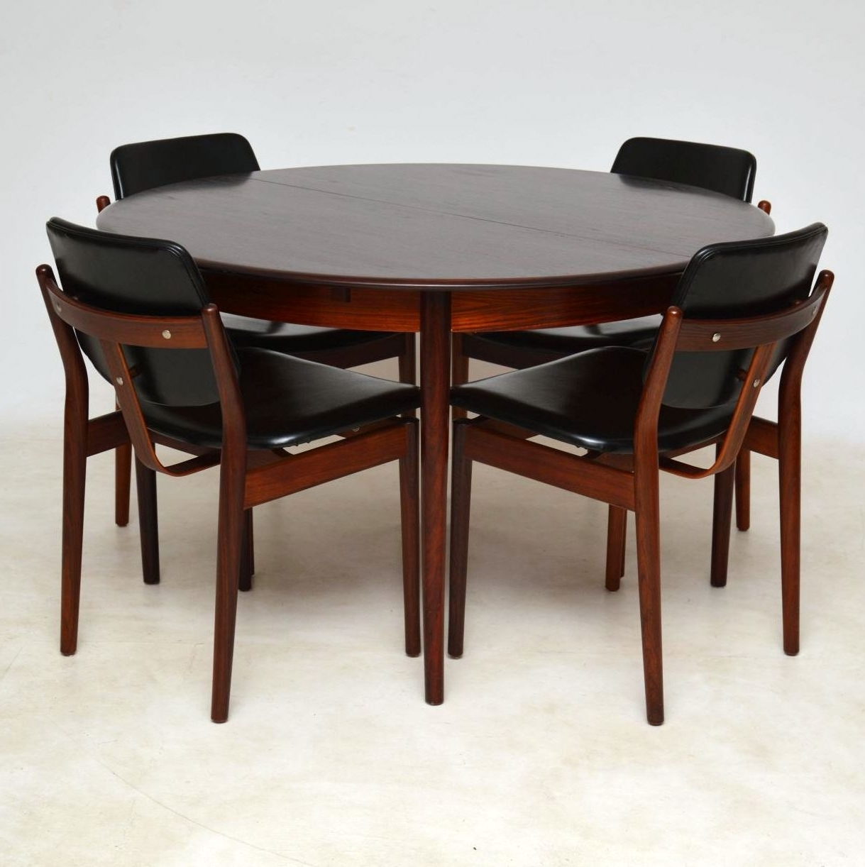 Danish Rosewood Dining Chairsarne Vodder & Danish Rosewood Inside Well Known Danish Dining Tables (View 22 of 25)