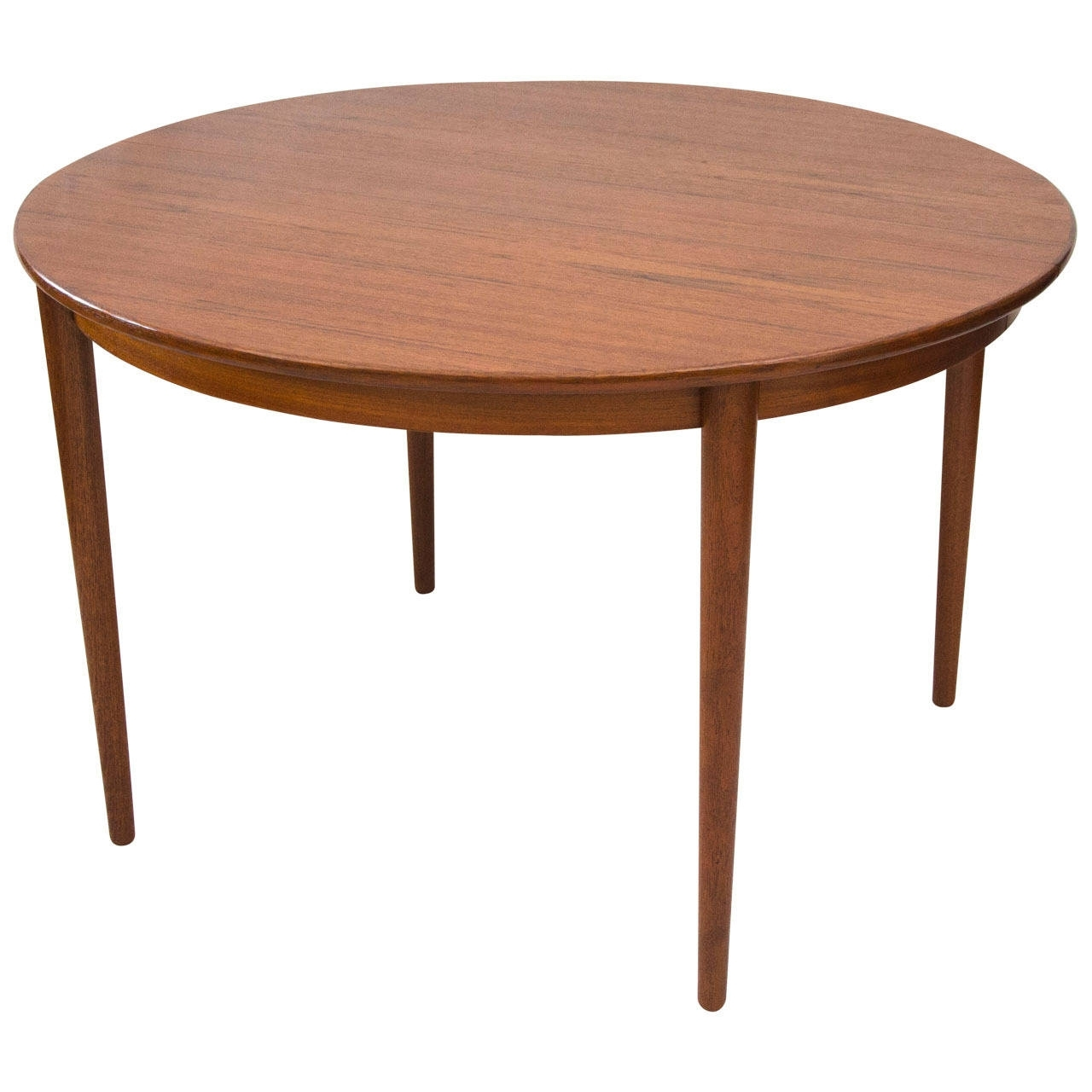 Danish Round Teak Dining Table With Two Leavesmoreddi At 1Stdibs Regarding Most Popular Round Teak Dining Tables (View 3 of 25)