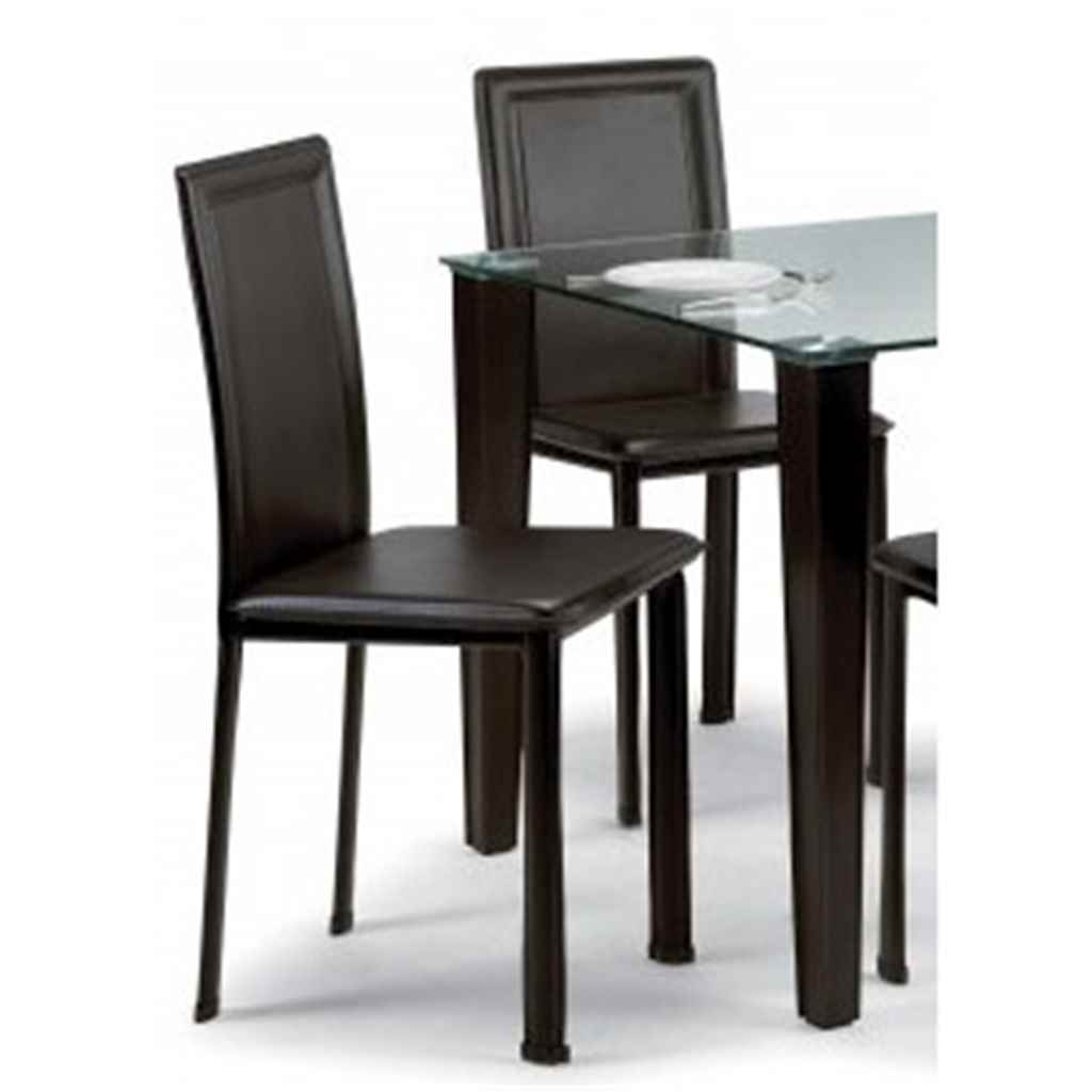 Dark Brown Faux Leather Dining Chair intended for Most Up-to-Date Dark Brown Leather Dining Chairs