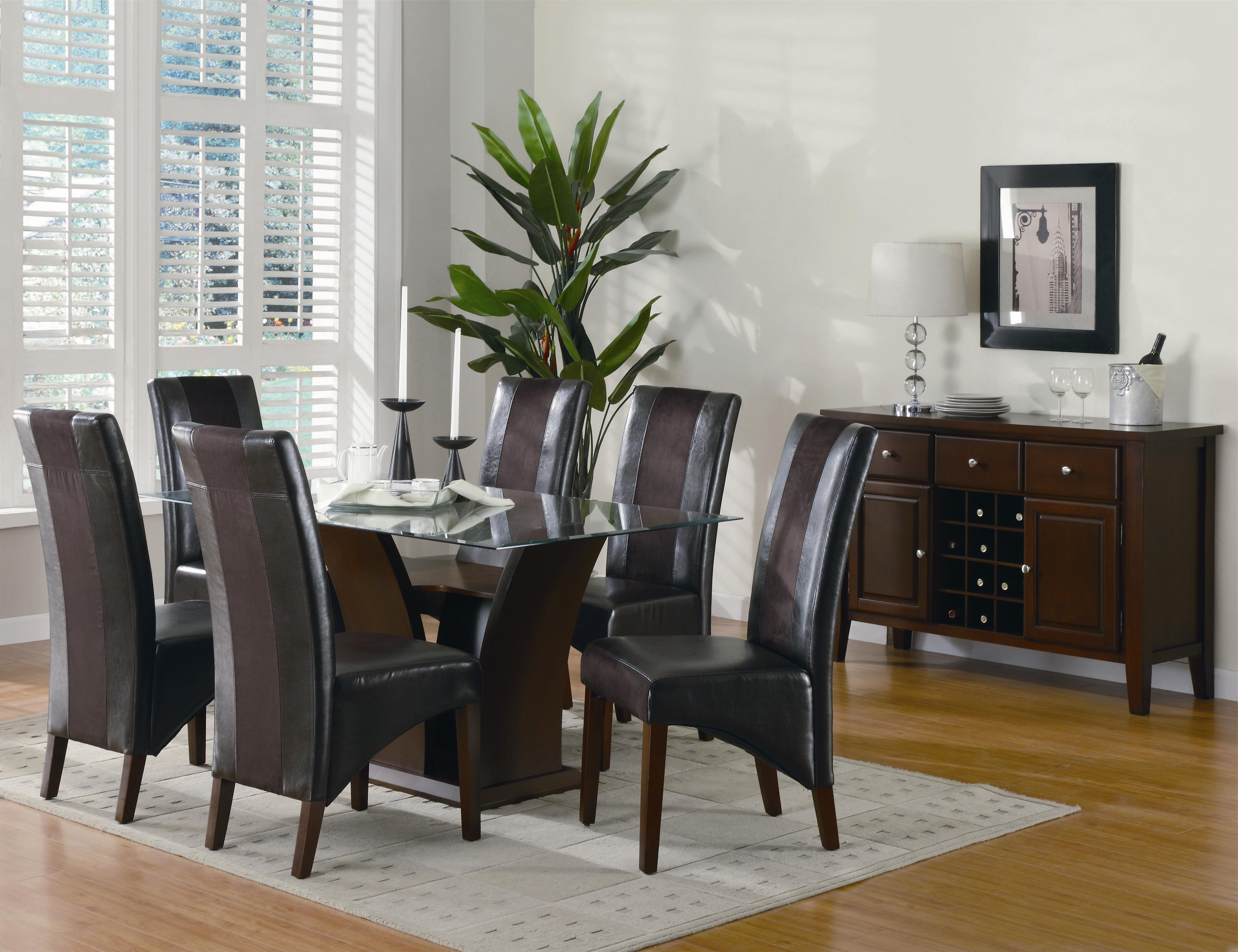 Dark Brown Leather Dining Chairs For Most Popular Stunning Dark Brown Varnished Wooden Dining Chair With Dark Brown (View 19 of 25)