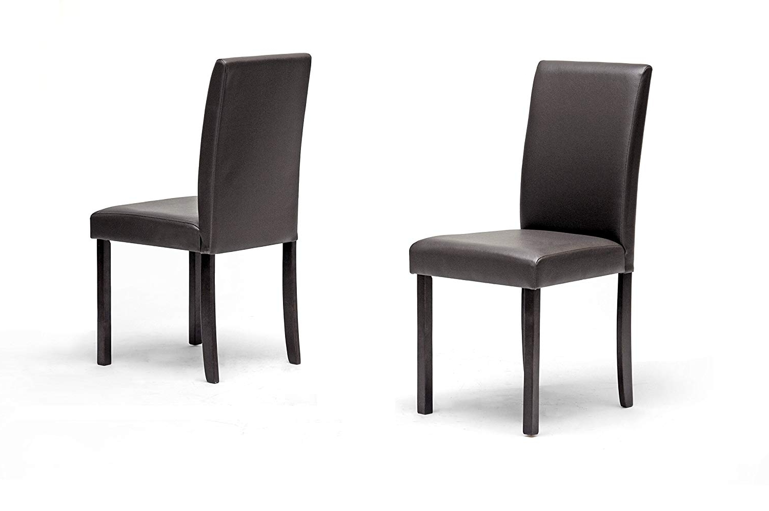 Dark Brown Leather Dining Chairs Intended For Most Recently Released Amazon – Baxton Studio Andrew Modern Dining Chair, Set Of 2 – Chairs (Gallery 18 of 25)