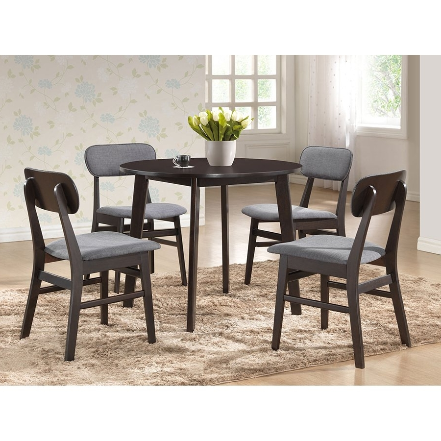 Dark Brown Round Dining Table – Debbie (View 15 of 25)