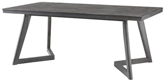 Dark Dining Room Tables Within Latest Besteneer – Dark Gray – Rectangular Dining Room Table (Gallery 8 of 25)