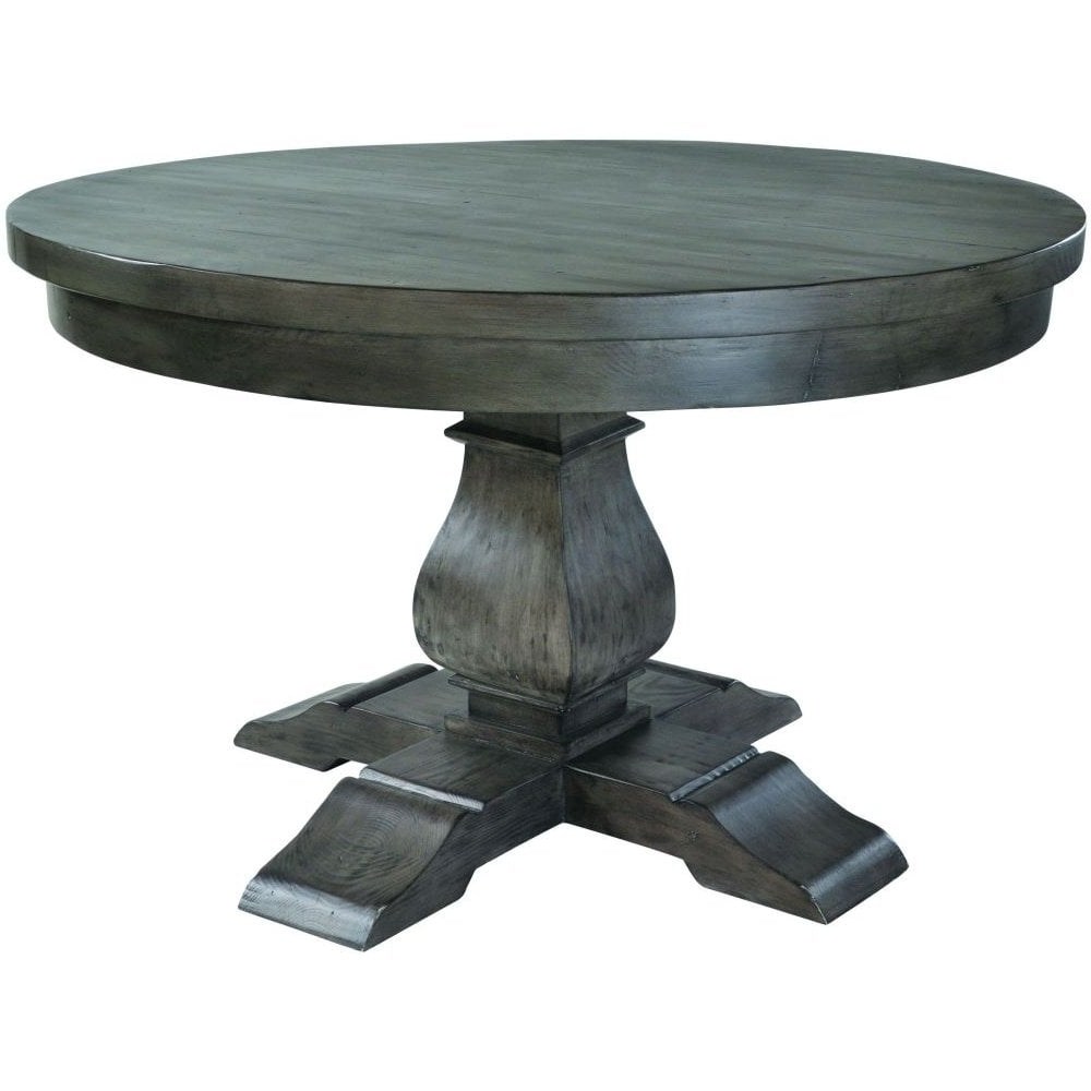 Dark Round Dining Tables In Preferred Rowico Dark Reclaimed Wood Round Dining Table – 130Cm – Dining Room (Gallery 17 of 25)