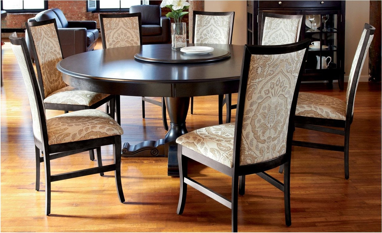 Dark Round Dining Tables Inside Widely Used Wonderfull Dining Room Furniture Round Dining Tables Round Dining (Gallery 13 of 25)