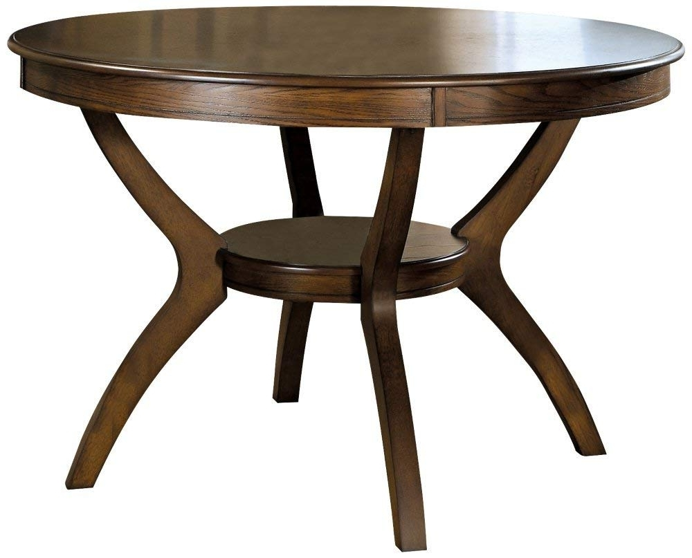 Dark Round Dining Tables Pertaining To Most Up To Date Amazon – Coaster Home Furnishings Nelms Classic Modern (View 24 of 25)