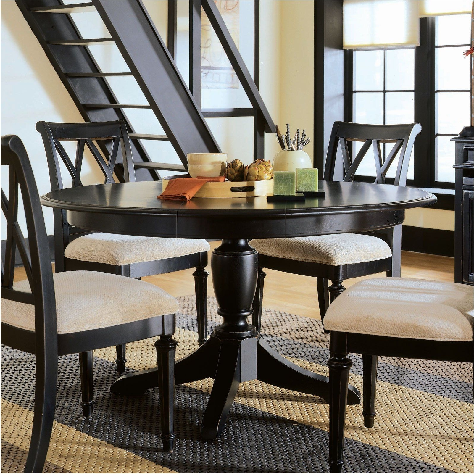Dark Round Dining Tables With Most Recent Extraordinary Dark Wood Round Dining Table : Table (View 23 of 25)
