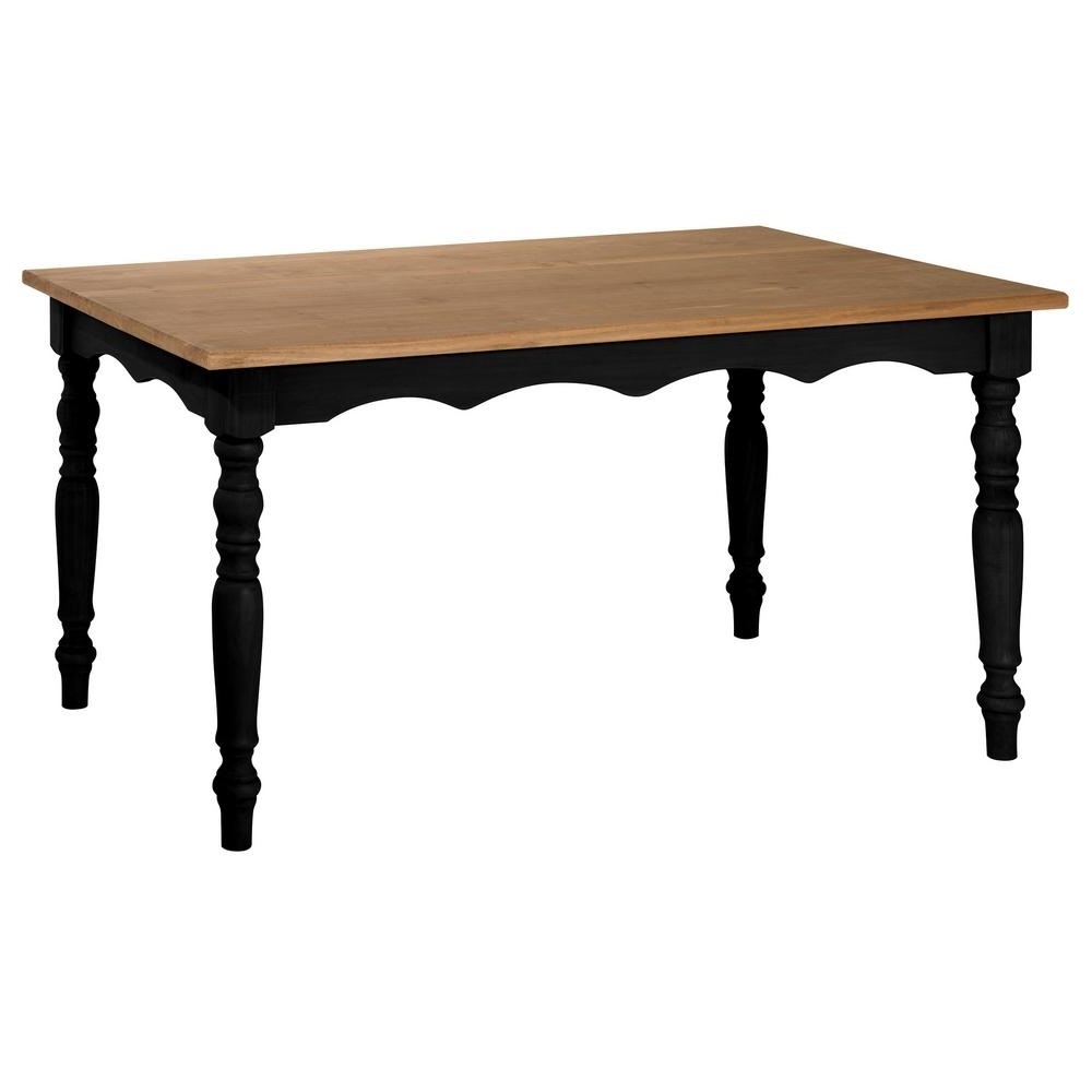 Dark Solid Wood Dining Tables With 2017 Manhattan Comfort Jay 59.84 In. Black Wash Solid Wood Dining Table (Gallery 19 of 25)